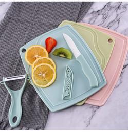 $enCountryForm.capitalKeyWord UK - Ceramic Fruit Knife Set Ceramic Knife Three-Piece Set 3 Piece Kitchen Gift Cutter Chopstick Set