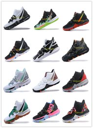 Clear Balls Australia - Irving 2019 Limited 5 Men Basketball Shoes 5s Black Magic for Kyrie Chaussures De Basket Ball Mens Trainers Sneakers Zapatillas 40-46 V08