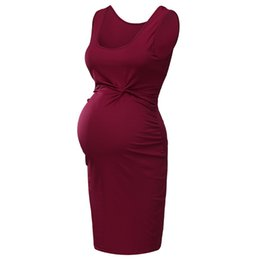 chinese sexy crystal dress UK - Sleeveless Pregnancy Dress Maternity Dresses Pregnant Clothes 2019 Summer Women Solid Sexy Sheath Pregnant Sundresses