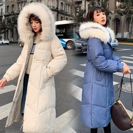 oversized collar jacket NZ - Coats New Oversized Nice Thick Winter Jacket Women Hooded Fur Collar Down Cotton Coat Long Jacket Female Parkas Coats S-3XL T191030