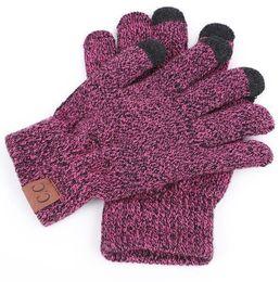 Cc Bikes Australia - Knit CC finger Touch Screen Gloves Capacitive Gloves adult Men Women Winter Warm Wool christmas Gloves Knitted bike cycling ski sport Glove