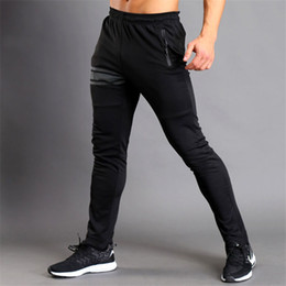 bodybuilding pants men NZ - 2017 New Sweatpants Mens Leggings Joggers Compression Pants Men Fitness Breathable Skinny Tights Male Bodybuilding Trousers V200414