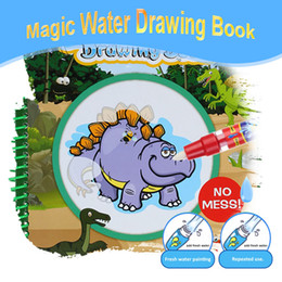 $enCountryForm.capitalKeyWord Australia - Non-toxic Magic Water Drawing Book Coloring Book Doodle with Magic Pen Dinosaur Series Painting No Ink Educational Toy