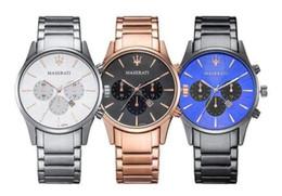 $enCountryForm.capitalKeyWord NZ - 018 fashion Maserati Mens or womenes Watches Steel Quartz Wristwatches Stopwatch Luxury Watch Top Brand relogies for men relojes Best Gift