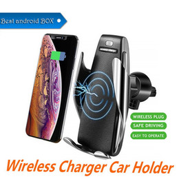 $enCountryForm.capitalKeyWord Australia - Magic Clip S5 Wireless Charger Back clip Infrared induction wireless mobile phone power bank for vehicle for iphone samsung DHL free