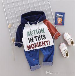 Fall Tutu Australia - Toddler Sportswear Fall Baby Clothing Sets Kids Boys Girls Fashion Apparel Kids Hooded T-Shirts & Pants 2 Sets 80-110