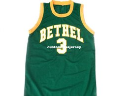 wholesale Allen Iverson  3 Bethel High School New Basketball Jersey Green  Stitched Custom any number name MEN WOMEN YOUTH BASKETBALL JERSEYS 46458536f