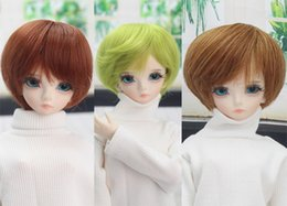 bjd dolls hair Australia - Short Wigs High Temperature Fiber Brown Doll Hair Wigs for 1 3 1 4 1 6 BJD Dolls Accessories