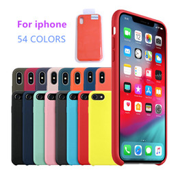 Note phoNe back pouches online shopping - 54 colors Soft PC Silicone Phone Case for iPhone pro max s plus plus X Xs max Xr cover Solid Color TPU Back Cover with Retail box