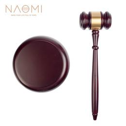NAOMI Wooden Judge Hammer Handmade Craft Judge Auction Hammer Wood Gavel Sound Block Court Decoration Set on Sale