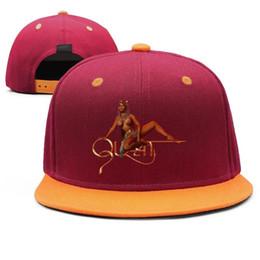 Sexy Women Hats Australia - Sexy Nicki Minaj Queen Design Snapback Flatbrim Baseball Caps Hip-Hop Sun Hat Adjustable Custom