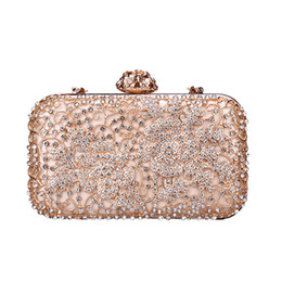 EvEnings bags online shopping - Pink sugao crystal Luxury evening bag shoulder bag Bling party purse Top diamond Boutique Gold silver women wedding Day clutch bag