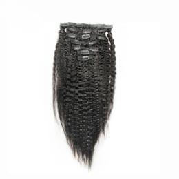 $enCountryForm.capitalKeyWord Australia - Coarse Yaki Kinky Straight Clip In Hair Extensions 10pcs set Brazilian Kinky Straight Clip In Human Hair Extensions Virgin Hair