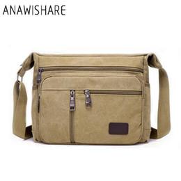 $enCountryForm.capitalKeyWord NZ - bag for cell phone ANAWISHARE Vintage Messenger Canvas Crossbody Bags For Men Shoulder Bags Business Men Handbags High Quality Yt66