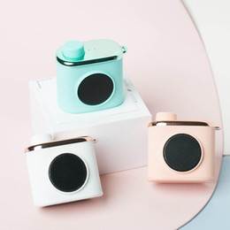 Wholesale Mini Cameras Bluetooth Australia - CM-2 Retro Camera Portable Mini Bluetooth Speaker Cute Nostalgic 3D Stereo Surround HiFi Sound Portable with Microphone Speakers