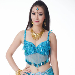 a57e595be8 Oriental Dance Costumes New Arrival Twinkling Sequined Bra Top Beaded Fringe  Dancing Costume Sexy Hanging Coin Diamond