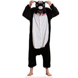 Cat Adult Onesie NZ - Cute Black Cat Onesie Kigurumi Men Animal Costume  Women Jumpsuit For bc12e38ad