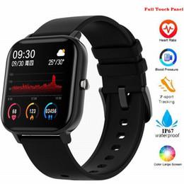 Pressão rastreador New aptidão inteligente Banda IP67 à prova d'água Pulseira Bluetooth Heart Rate Monitor Pulseira Sangue SmartWatch para Android e iOS em Promoção