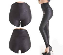 $enCountryForm.capitalKeyWord NZ - 2018 New Sale Fashion Serpentine Sexy Leggings Womens Leggins Stretch High Waist Quality Faux Leather Pants Plus Size Yak0010 MX190714