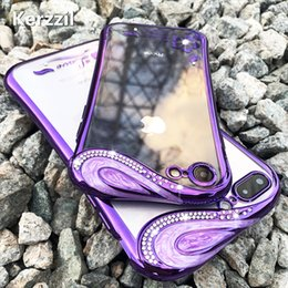 Kerzzil Slim Clear Soft TPU Phone case For iPhone 7 6S 8 Plus cases Fashion  Silicone Diamond Case For iPhone X 6 7 8 cover back ea02e30b53f3