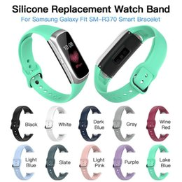 $enCountryForm.capitalKeyWord Australia - Silicone Sport Watch Strap Wrist Band Strap For Samsung Galaxy Fit SM-R370 Smart Bracelet Watch Strap Accessories