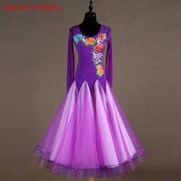 $enCountryForm.capitalKeyWord Australia - Diamond Flash Long Dance Dress Women's Dress Long Competition Competition Pattern Waltz   Tango Dance XXS-6XL