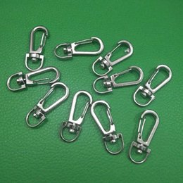 hiking clasps 2019 - 10Pcs Metal Carabiner Clasp Clips Hook Keychain Outdoor EDC Spring Buckle Lanyard for Camping Hiking J214 cheap hiking c