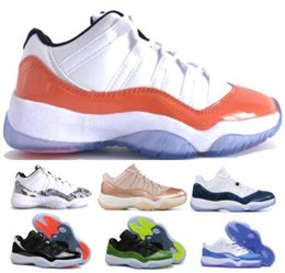 8f016d957082 Mens 11 11s Basketball Shoes Sneakers Low Snakeskin Emerald Snake Carolina  Barons Closing Ceremony Concord Blue XI 2019 Women Airing Shoes