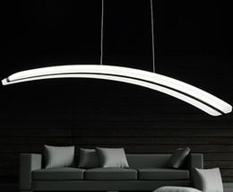 $enCountryForm.capitalKeyWord NZ - For Parlor dinning room 110V 220V long line PC PMMA arc curve crescent moon shape acrylic led pendant light lamp dimmable LLFA
