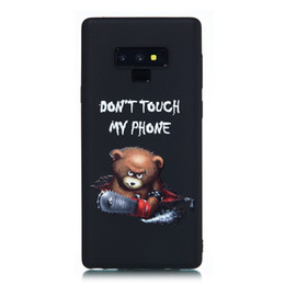 $enCountryForm.capitalKeyWord UK - For Samsung Galaxy Note 9 Case Back Cover Soft TPU Matte Painting Owl Feather formula Color dog Boxing Cat Easy bear