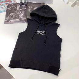 $enCountryForm.capitalKeyWord Australia - Boy kids designer clothing autumn jacket side zipper design black hooded vest fashion classic eagle pattern