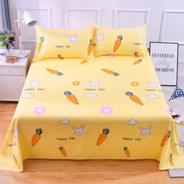 $enCountryForm.capitalKeyWord Australia - Summer Floral Cute Students Single Double Bedsheet King Queen Twin Flat Sheet Soft Sanding Bed Sheet 200x230cm