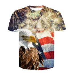 eagle shirt print 2019 - 2019 New Cool T-shirt Men Women 3d Tshirt eagle Printed short Sleeve Summer Tops Tees T shirt Fashion t shirt discount e