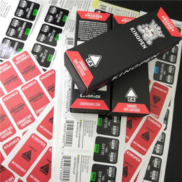 Wholesale Boxes Packaging Australia - Red Flavors Kingpen Package Bags King Pen Packaging Bag Paper Box Only with Black Plastic Tube and Flavor Sticker for Vape Cartridge DHL