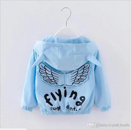 $enCountryForm.capitalKeyWord Australia - 2017 New Spring Autumn Baby Boys Girls Angel Wings Coats Outwear Kids Zipper Hooded Jackets Fashion Children Wind Coat 3pcs lot