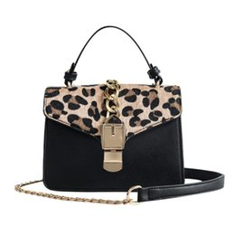 leopard printed hand bags UK - Small Leopard Print Flap Bags For Women 2019 Leather Mini Handbag Ladies Shoulder Bag Lady Messenger Crossbody Hand Bag #193611