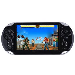 built game console UK - RS-X9 Handheld game players 5.0 inch screen video game console built-in 9463 classic games Progress Save Load 32GB best gift