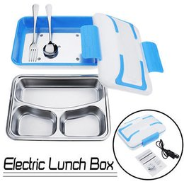 portable car heat 2019 - Portable PTC Electric Heating Lunch Box Container Stainless Steel Food Meal Warmer For Office Home 3 options 220 110 12V