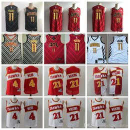 $enCountryForm.capitalKeyWord Canada - Atlanta Basketball Hawks Trae 11 Young Jersey Men 4 Spud Webb 21 Dominique Wilkins Jerseys Sport Team Black Red White Uniform High Quality