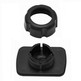 Discount tablet cradle holder car - 17mm Round Dead To 4 Buckle Adapter For Car Cellphone Holder Tablet Stand Cradle
