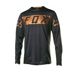 Ingrosso FOX T-shirt a maniche lunghe in discesa abbigliamento mountain bike d'estate giacca abbigliamento ciclismo abbigliamento off-road moto asciugatura rapida lungo sleev