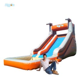 $enCountryForm.capitalKeyWord Australia - YARD Portable Backyard Cheap Inflatable Water Silde with Pools For Sale