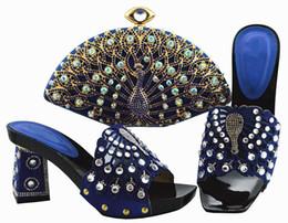 $enCountryForm.capitalKeyWord NZ - Elegant royal blue women pumps and bag set with big crystal decoration african shoes match handbag for dress QSL004,heel 9CM