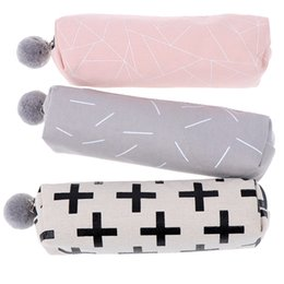 $enCountryForm.capitalKeyWord Australia - Pencil Case for Girls Cute Canvas Cosmetic bag Pen Bag Stationery Pouch Box kids gift office Supplies hot sale