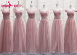 $enCountryForm.capitalKeyWord Australia - Bridesmaid Dresses Long Sexy V Neck 2019 A Line Tulle Party Dress Wedding Guest Vestidos De Novia Vestido De Dama De Honor SH190827