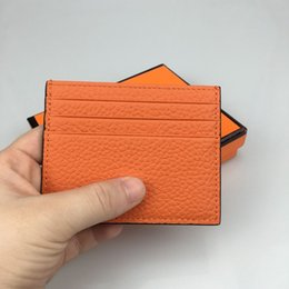 $enCountryForm.capitalKeyWord Australia - Luxury new wallet men's wallet thin section credit card holder 100% leather business card set ID card small wallet gift free shipping box