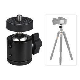"mini ball head for camera NZ - Mini Ball Head Tripod Heads 1 4"" BallHead Screw Thread Base Mount for Camera Tripod Stand Adapter for Monopod DSLR Camera Camcorder"