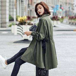 Korean Green Jacket Australia - Windshield jacket long and mediumlength Korean version of spring and autumn 2019 new army green largesize student leisure long sleeve spring