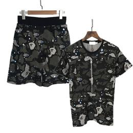 $enCountryForm.capitalKeyWord Australia - Mens Tshirts Jogger Tracksuit Hip Hop Tee 2019 Tops + Shorts Brand Designer Shirt Men's Suit Tees Starry Sky Patchw Shark Mouth Print.