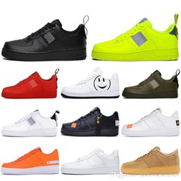 grey low cut socks Australia - With Socks Fashion Dunk Utility 1 Men Lady Running Shoes Skateboard Black White Just Orange High Low Cut Trainers Platform Designer Sneaker
